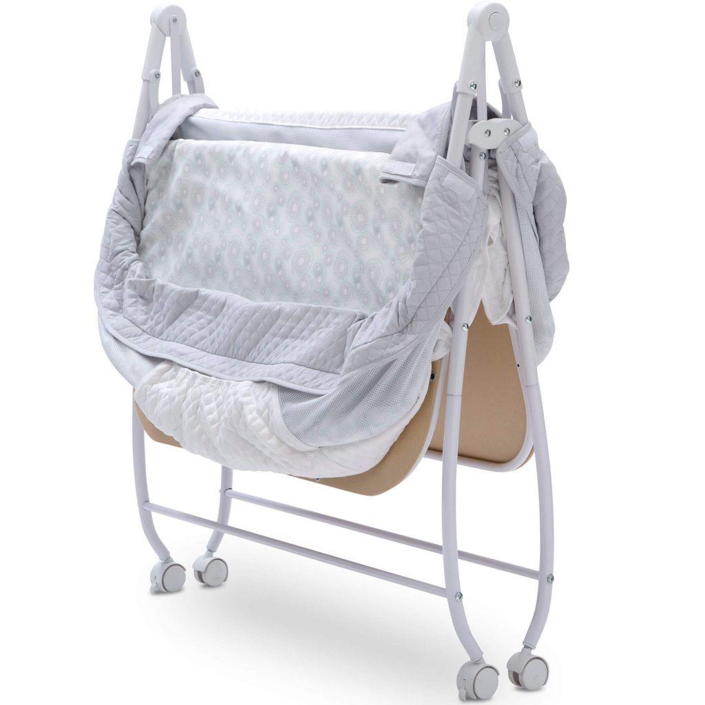twin bassinet review delta-folded